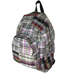 Recycled Cotton Plaid Backpack