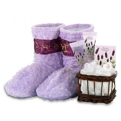 Lavender Spa Bootie Gift Set