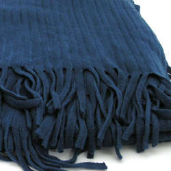 Blue Ribbed Throw