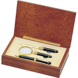 Executive Brass Pen, Letter Opener, and Magnifier