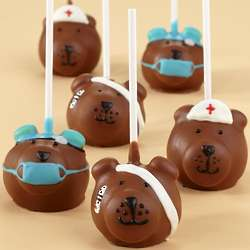 6 Handmade Get Well Bear Cake Pops