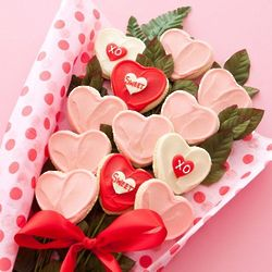 Heart Long Stemmed Cookies Flowers