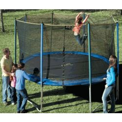 Small Outdoor Trampoline and Enclosure