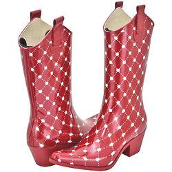 Women's Red Western Rain Boots