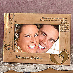 Personalized My Love, My Star Wooden Frame