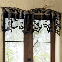 Batty for Lace Decorative Window Scarf