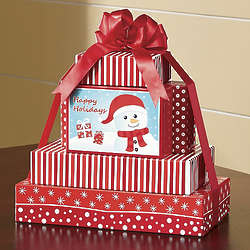 Postpaid Snowman Food Gift Tower