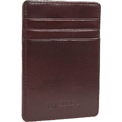 Old Dark Brown Leather Deluxe Front Pocket Wallet