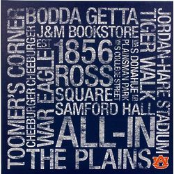 Auburn Tigers 24x24 Square Subway Art Canvas