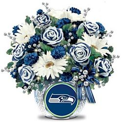 Seattle Seahawks Blooming with Pride Floral Centerpiece