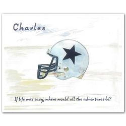 Personalized Football Helmet Art Print