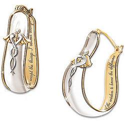 Nurse's Serenity Prayer Swarovski Crystal Earrings