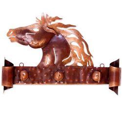 Horse of Gold Iron Coat Rack and Key Holder