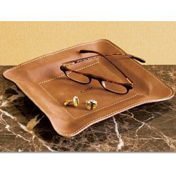 Dresser Top Leather Tray