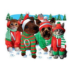 Noel Dog and Cat Christmas T-Shirt