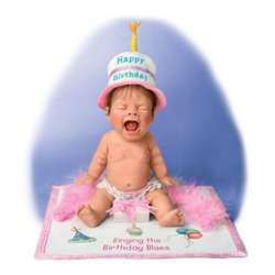 Singing The Birthday Blues Miniature Baby Doll