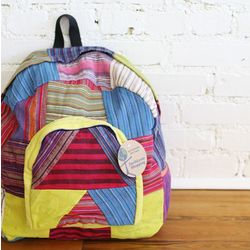 Bright Color Recycled Cotton Backpack