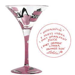 Shopaholic Martini Glass