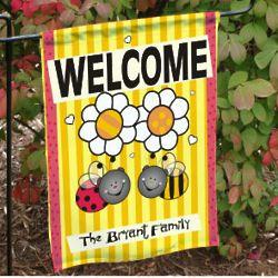 Welcome Bee Garden Flag