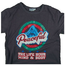 Peaceful Mountain Happy Hour T-Shirt
