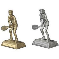 Resin Tennis Figure Trophy