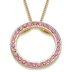 October Birthstone Crystal Circle Pendant