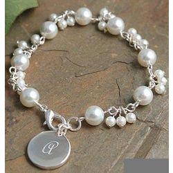 Personalized Glass Pearl Romance Bracelet