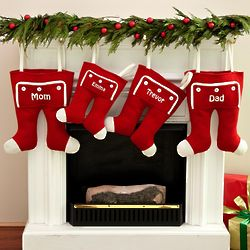 Personalized Knit Long John Christmas Stocking