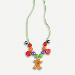 Beaded Gingerbread Necklace Craft Kit Per Makes