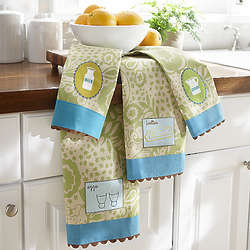Breakfast Design Cotton Towel Set