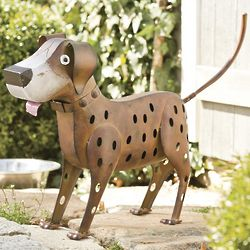 Metal Dog Yard Sculpture