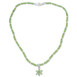 Summer Blossom Peridot Necklace
