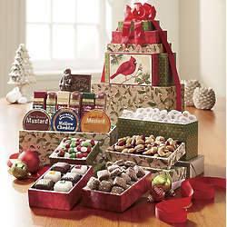 Postpaid Cardinal Food Gift Tower