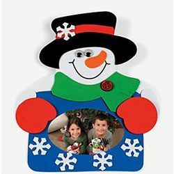 Snowman Photo Magnet Craft Kit