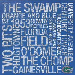 Florida Gators 24x24 Square Subway Art Canvas