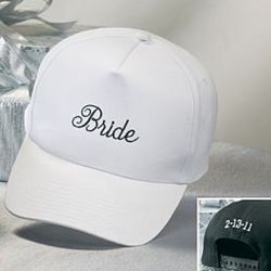Bride's Personalized Wedding Date Baseball Cap