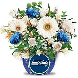 Seattle Seahawks Blooming with Pride Bouquet Centerpiece