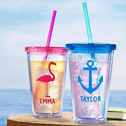 Personalized Destination Vacation Insulated Tumbler
