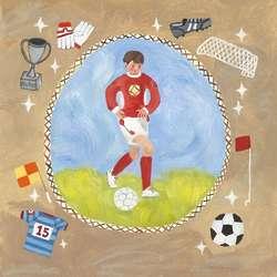 Soccer Star Boy 14 Wall Art Print