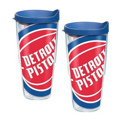 2 Detroit Pistons Colossal 24 Oz. Tervis Tumblers with Lids