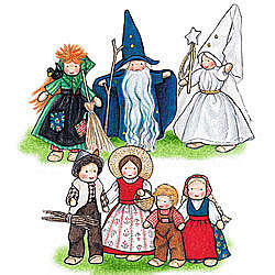 7-Piece Fairy Tale Characters Set