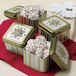 4 Bonbon Cookie Mini Gift Tins
