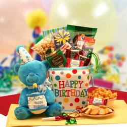 Happy Birthday Surprise Gift Bag with Musical Bear
