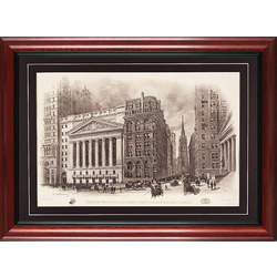 Framed 1903 New York Stock Exchange Print
