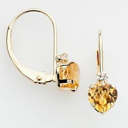 10K Gold Citrine Earrings