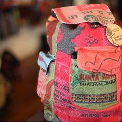 Recycled Jute Grain Bag Backpack