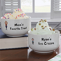 Family Characters Personalized Treat Bowl