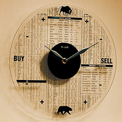 Glass Stock Market Clock