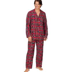 Stewart Plaid Button-Down Pajamas for Men