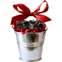 Small Candy Coal Filled Tin Bucket